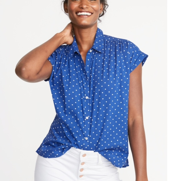 Old Navy Tops - Old Navy Relaxed Cap Sleeve Shirt Small